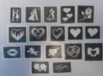 St. Valentine Day themed stencils for etching on glass  craft hobby glassware gift rose hearts ring couple